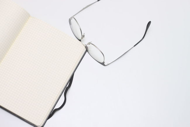 Take A Note Note Write Paper Notes Notebook Glasses Text White White Blanket Copyspace Bills Business