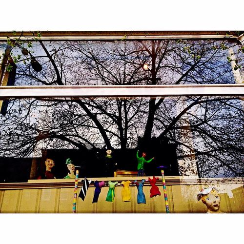 and you stop to wave Reflection Shop Window Dummy Window Display Photography Pastel Power