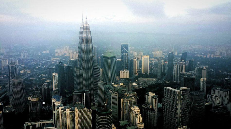 Bird's Eye View Kuala Lumpur Skyscraper City Architecture