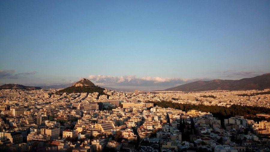 Acropolis Pathenon Magic Light Greece Athens Hellas City From Above No Filter