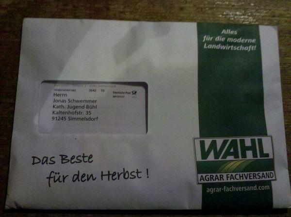 was ich manchmal für Post bekomme...