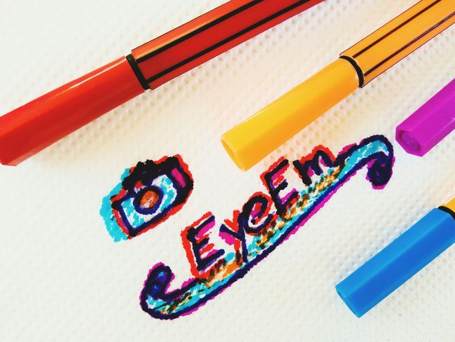 EyeEm EyeEm Design Creativity Simplicity Drawing Multi Colored No People Close-up White Background Day Creative Photography Pencil Drawing Pencil Art Art, Drawing, Creativity ArtWork Arts Culture And Entertainment Artistic Artistic Photo Logo Design Eyeem Logo Minimalist Abstract Art Abstract