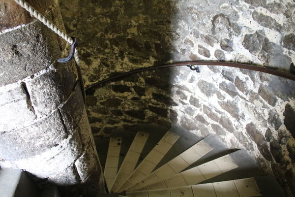 Arched Architecture Built Structure Castle Stairs High Angle View Medieval Spiral Staircase Staircase Steps Steps And Staircases Stone Stone Material