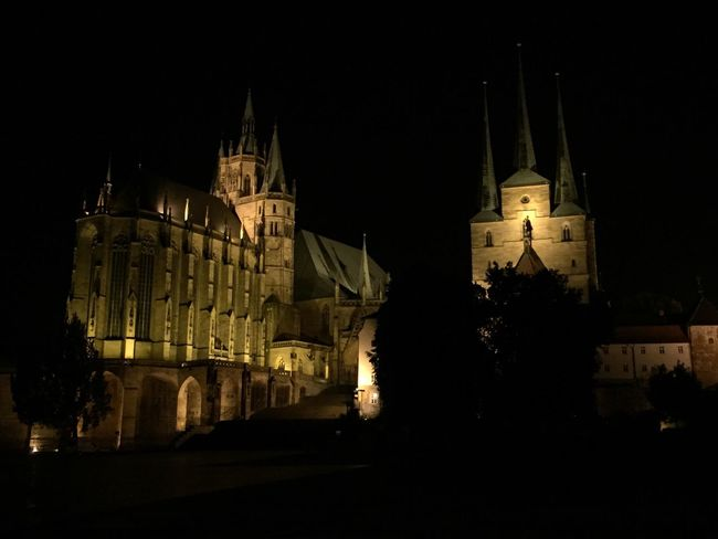 Erfurt Erfurter Dom Germeny Night Cathedral Dom Architecture Church Travel Destinations Building Exterior Religion Europe Thuringia Nightphotography Taking Photos