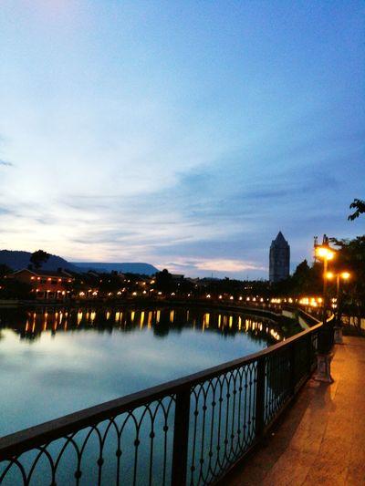 Night Water Sky