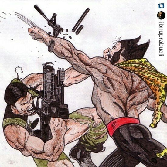 Repost @ibnuprabuali with @repostapp ・・・ Punisher Wolverine Marvel Comic Art Drawing Comic Xmen Logan Frankcastle Adamantium Illustration Drawing Draw Picture Artist Sketch Sketchbook Paper Pen Pencil Artsy Instaart Gallery masterpiece creative instaartist graphic graphics