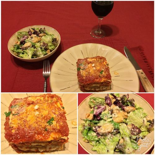 Tonight, I made eggplant parmigiana. Served with a salad and my homemade 2015 Italian Amarone wine. ICanCookMyAssOff ItsAnItalianThing Eggplant HomemadeItalianWine Nomnombomb MyFoodPics Food Porn Awards Food And Drink Food And Drink