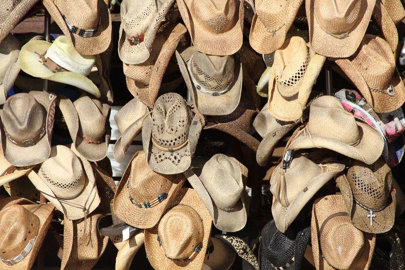 Shopping ♡ Shop Hats Cowboy Hat Street Market Cowboy Hats  Venice Beach Shopping Sidewalk Market Horizontal
