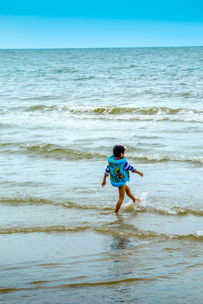 Beach Boat Boy Playing In The Beach Happy People Nature Outdoors Water Wheather