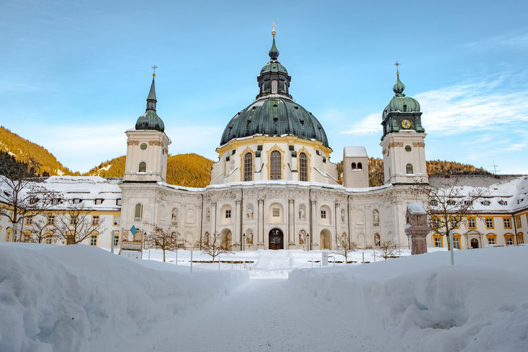 View of church against sky during winter