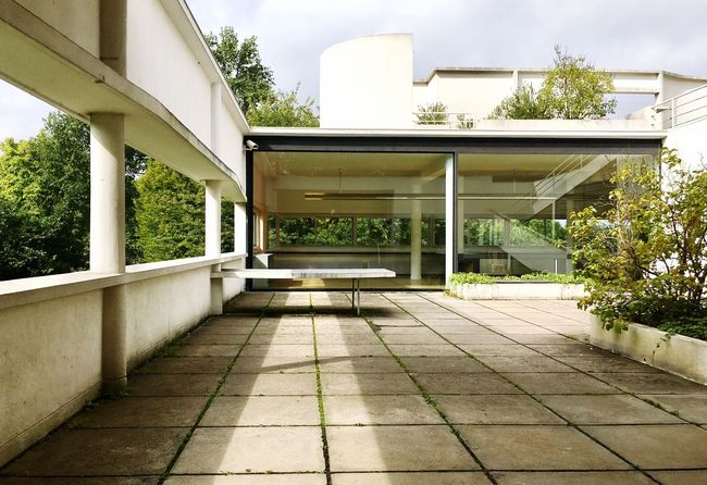 Architecture Building Exterior Built Structure Tree No People House Outdoors Day Nature Sky Lecorbusier Villasavoye Modernism Modern EyeEmNewHere