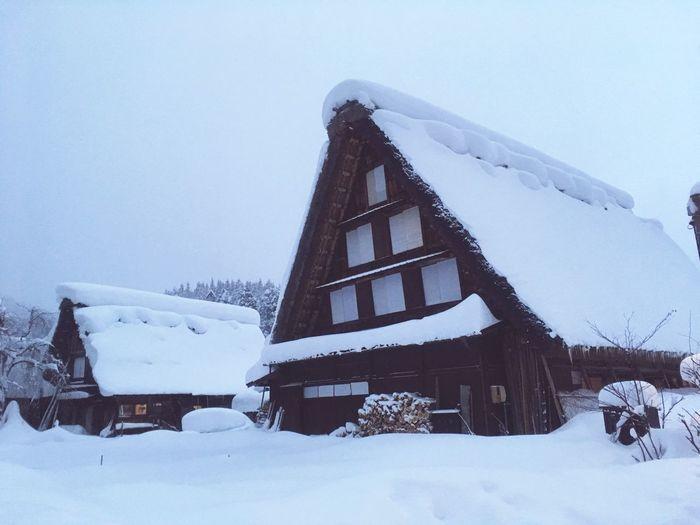 白川郷 Snow Winter A Thatched House World Heritage Cold Temperature White Color Gifu,Japan