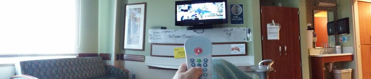 Sick Digital Tv Hospital Hospital Bed Hospitalization In Bed Point Of View Remote Control Room Sick Subjective