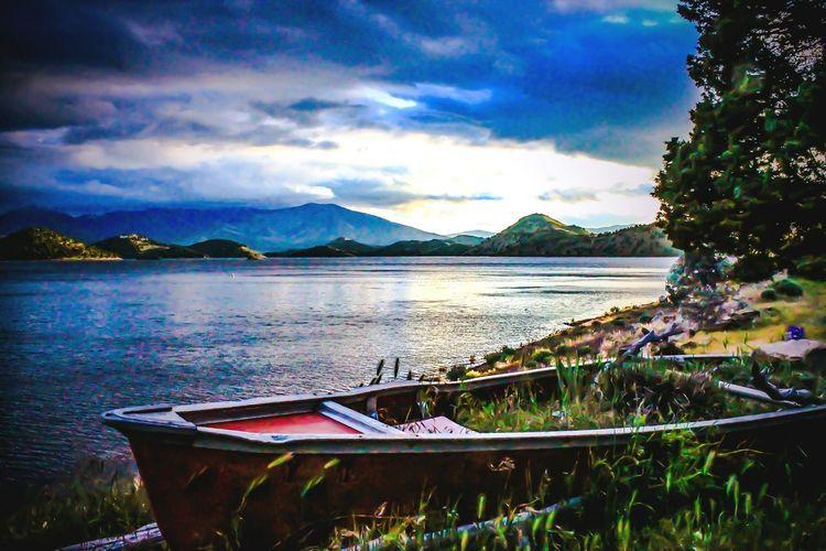 Dark Skies Over High Tide Diamond Mafia Photography Lake Shastina Landscape Mountains Lakeside stormy skies Sunset