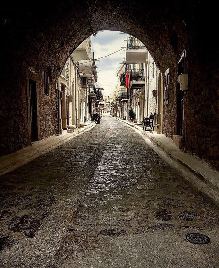 Greece Chios Greece The Way Forward Diminishing Perspective Architecture Built Structure Day No People Indoors  Building Exterior Sky Streetphotography Street