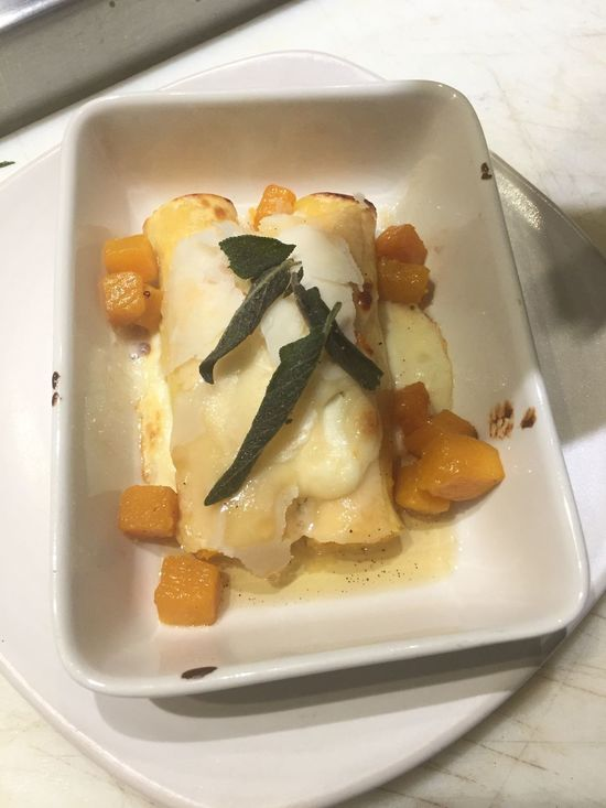 Butternut squash cannelloni . Who says pasta can't be a vegetarian delight Food And Drink Food Indoors  Freshness Still Life Plate Food Stories
