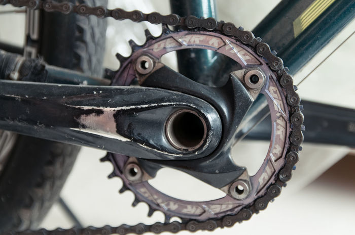 Metal Close-up No People Indoors  Bicycle Chain Gear