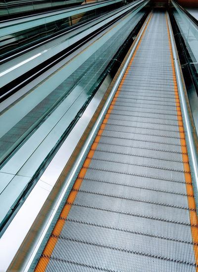 High Angle View Of Moving Walkway