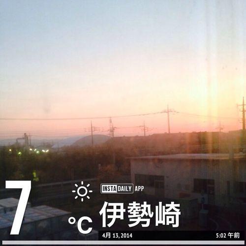 2014/04/13 朝焼け #イマソラ #sky #cloud #blue #orenge #ハート雲 2014/04