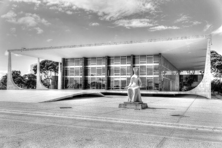 Brasilia city-Brazil Landscape_Collection Urban Sculpture Architecture_collectionBuildings Black&white Black And White Street Photography Monochrome Brazil - Brasília - DF Brasília - Brazil