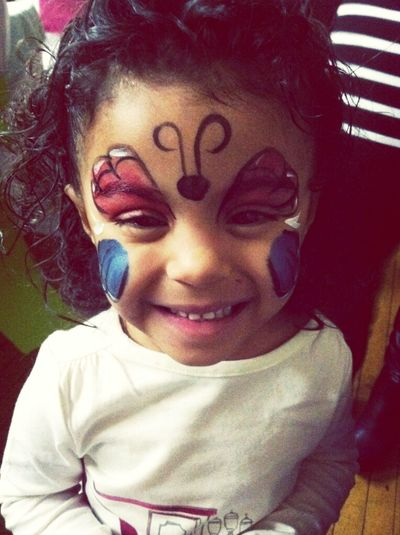 She Got Her Face Painted