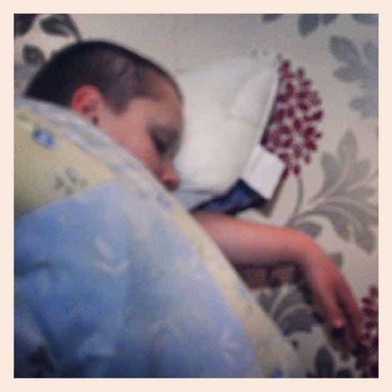 My handsome little man sleeping,x :-D