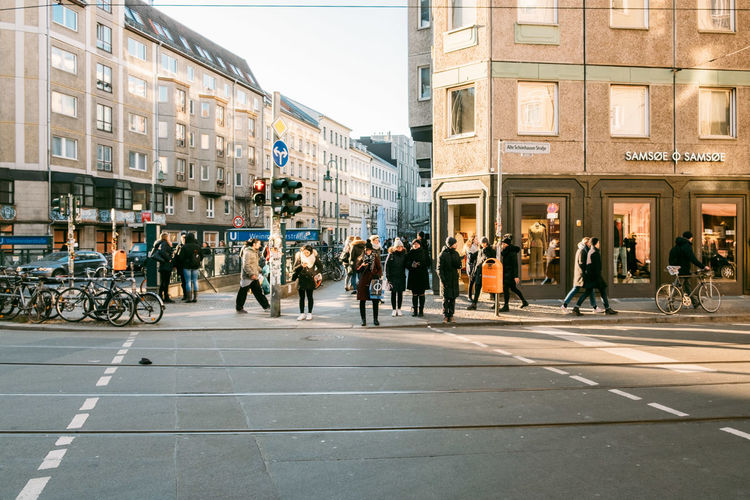 Adult Architecture Building Building Exterior Built Structure City City Life City Street Crowd Day Group Of People Large Group Of People Lifestyles Men Outdoors Real People Road Street Transportation Ubahn Walking Weinmeisterstraße Women