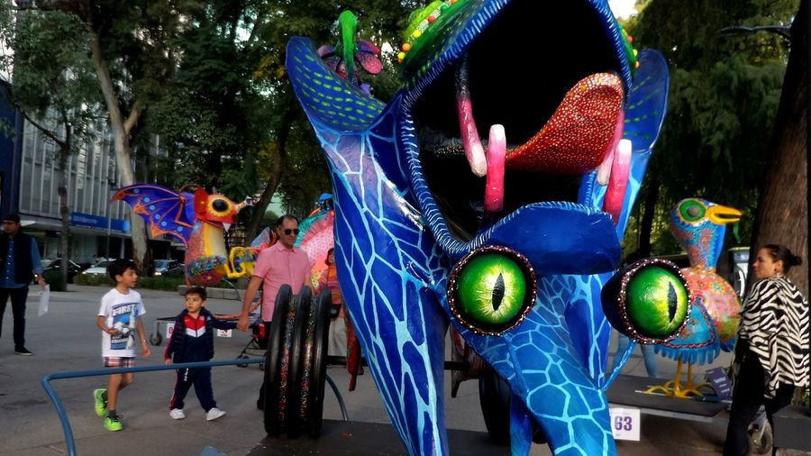 Multi Colored Artist City Streetphotography Be Creative Mexico City Discover Your City Alebrije Mexico