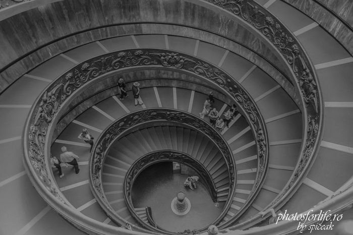 Stairs Architecture Building Story Built Structure Coil Concentric High Angle View Indoors  No People Railing Repetition Spiral Spiral Staircase Staircase Steps Steps And Staircases