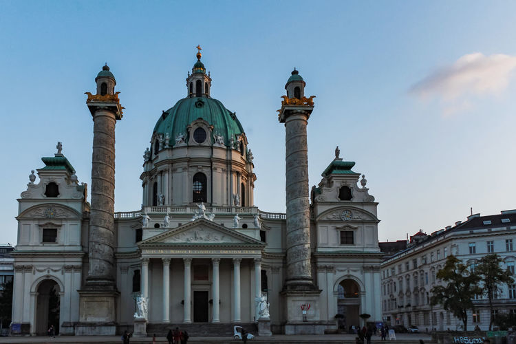 View of karlskirche in vienna with cloud