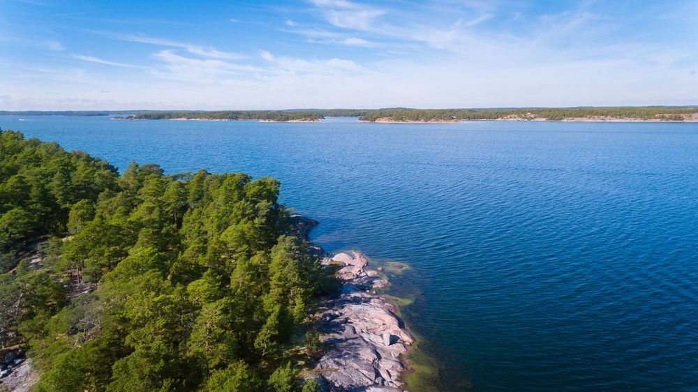 Baltic sea near Finnish coastline Aerial Photography Aerial Shot Aerial View Baltic Coast Baltic Sea Beauty In Nature Blue Day High Angle View Horizon Over Water Nature No People Outdoors Scenics Sea Sky Summer Water