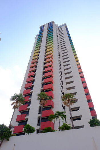 baiyoke tower skyLow Angle View Sky Built Structure Architecture Blue City Cloud - Sky Building Exterior Multi Colored Outdoors Day Rainbow Colors Tall - High Cityscape Baiyoke Baiyoke Tower Baiyoketower Metropolis High Architecture Clear Sky Color Colorful Low Angle View The Architect - 2017 EyeEm Awards