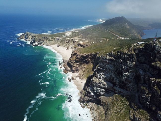 Cape of Good Hope Beauty In Nature Blue Cape Of Good Hope Cliff Day Horizon Over Water Mountain Nature No People Outdoors Rock - Object Scenics Sea Sky Water