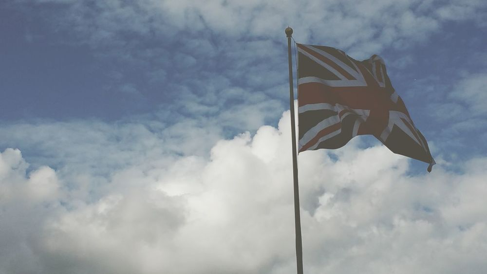 Union Flag Flapping Wind Motion patriotic im not