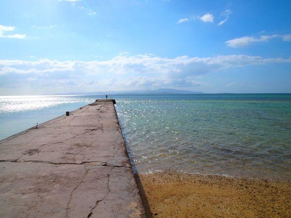 沖縄県 ( Okinawa )の 竹富島 ( Taketomi )の 西桟橋 の風景です