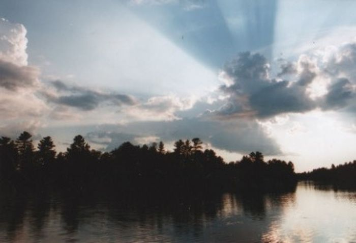 Afternoon sun Beauty In Nature Cloud - Sky Multi Colored Rays Of The Sun Reflection Scenics Silhouette Tranquil Scene