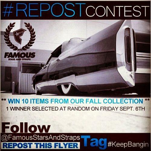 KeepBangin RepostContest @FamousStarsAndStraps