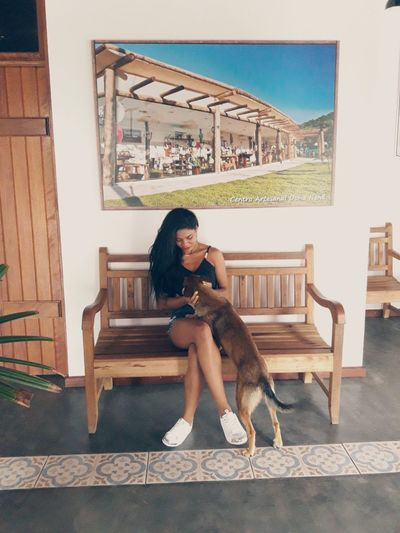 guararema Lovepet Pet Petstagram Dog Pets One Animal Sitting Full Length Adults Only Only Women Friendship Domestic Animals People Portrait Cheerful Outdoors One Person Day Women One Woman Only Adult Smiling Steps And Staircases EyeEmNewHere