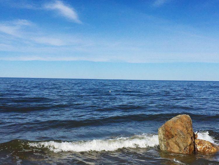 Rocks and waves Water Rocks And Water Waves Longisland Longislandsound Soundbeach