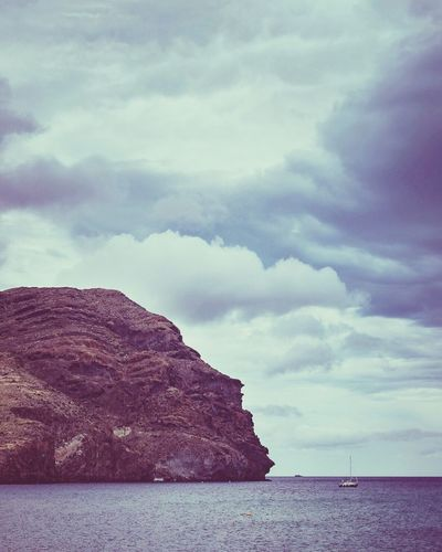 Sky Cloud - Sky Sea Scenics Nature Tranquility Outdoors No People Day Tranquil Scene Beauty In Nature Mountain Water Almería Spain Las Negras Hollidays