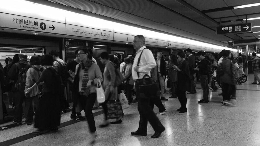 City Subway HongKong City Walk Around You Snap Black And White