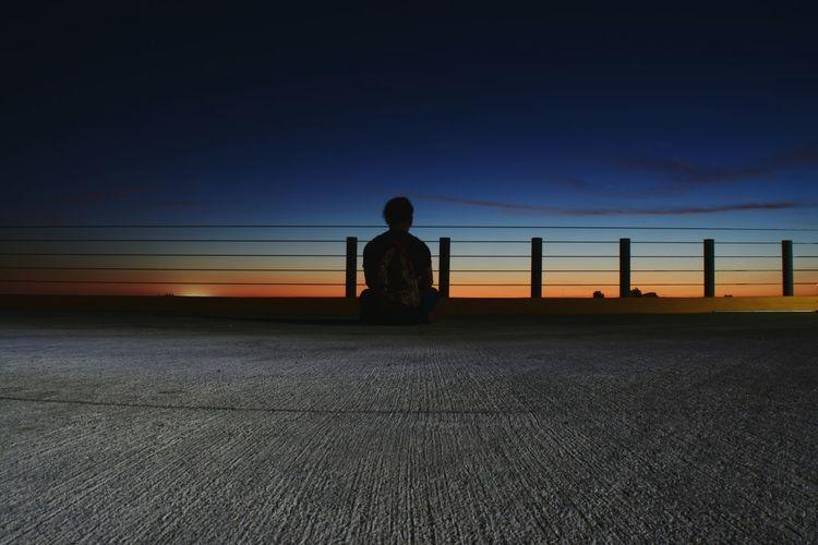 Un atardecer solitario! Modelo - Miguel Marin