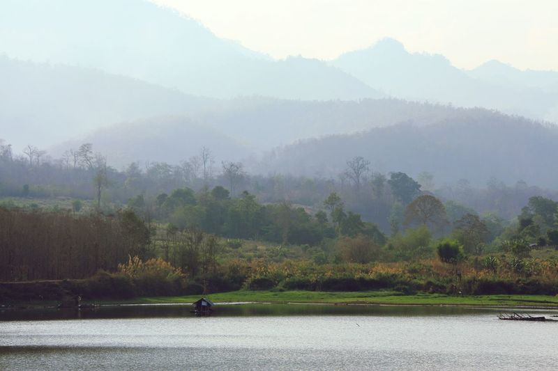 Mountains Landscape Lake Forest Reflection Calm Beauty In Nature Outdoors No People Nature Trees Lake View in North Thailand South East Asia