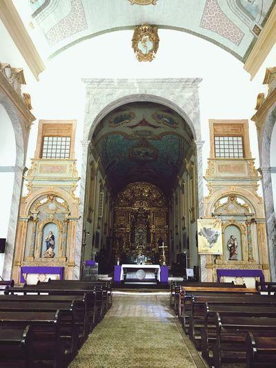 Igreja da Sé, Centro Histórico de São Luís - Maranhão Arch Religion Architecture Travel Destinations Place Of Worship Built Structure Spirituality No People Indoors  Day EyeEmNewHere