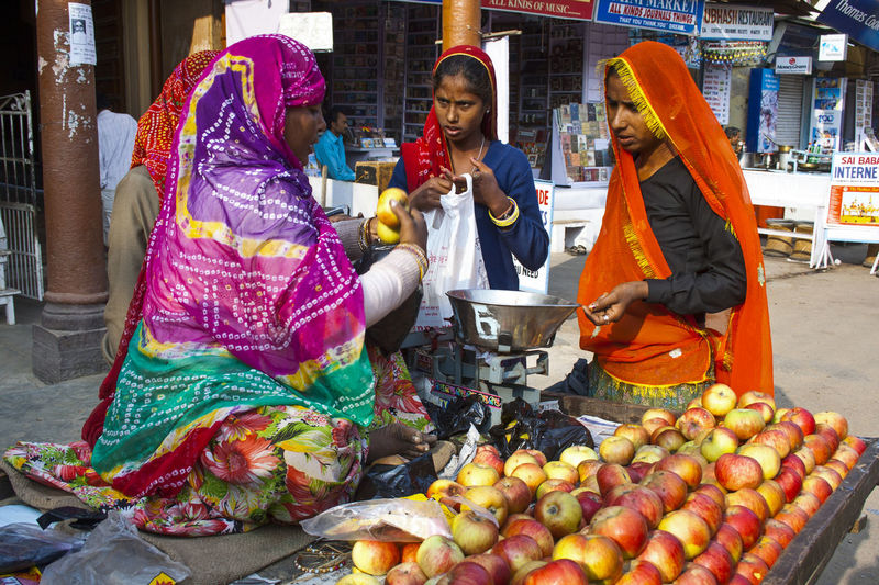 Various fruits for sale at market