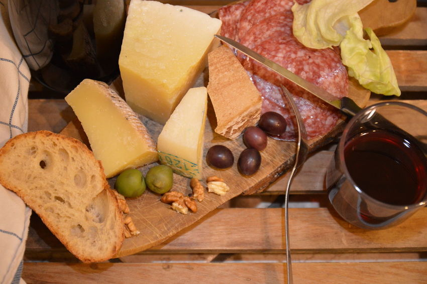 italian snack tipic food cheese salami bread olive wine nuts Food And Drink Fruit Healthy Eating SLICE Variation Freshness Indoors  Cheese Food Wood - Material No People Black Olive Close-up Ready-to-eat Day