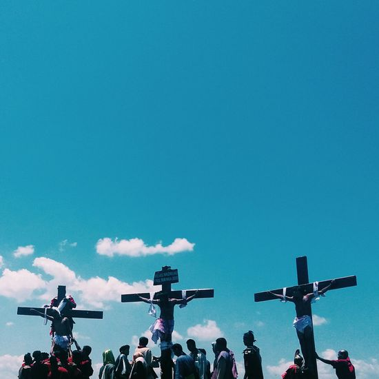 Blue Blue Sky Christianity Cross, Death Faith God Holy Week Lent Passion Jesus Eyeem Philippines Here Belongs To Me Blue Wave Telling Stories Differently The Photojournalist - 2016 EyeEm Awards Dramatic Angles TakeoverContrast The Street Photographer - 2017 EyeEm Awards The Photojournalist - 2017 EyeEm Awards Go Higher