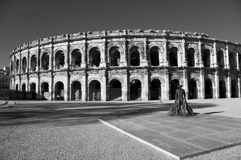 Arena France Nîmes Texture Textures And Surfaces Taking Photos Travel Photography Traveling Black And White Black & White Blackandwhite Architectural Detail Architecture_bw Architecture_collection Architecture Old Buildings Old Ruins Ancient Architecture Ancient Civilization Ancient Corrida Matador Statue Monument