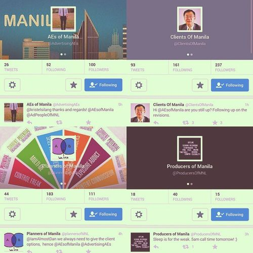 Follow these cool dudes! Through their convo, you will know how does it feels to be in an advertising agency. CoolCampaig Advertising CreativeAgencyLife