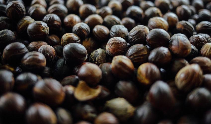 Full frame shot of nutmegs